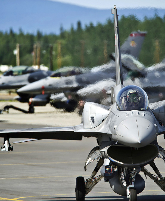 The army's cooperation with the private sector – a chance to improve the system of training  for the F-16 aircraft