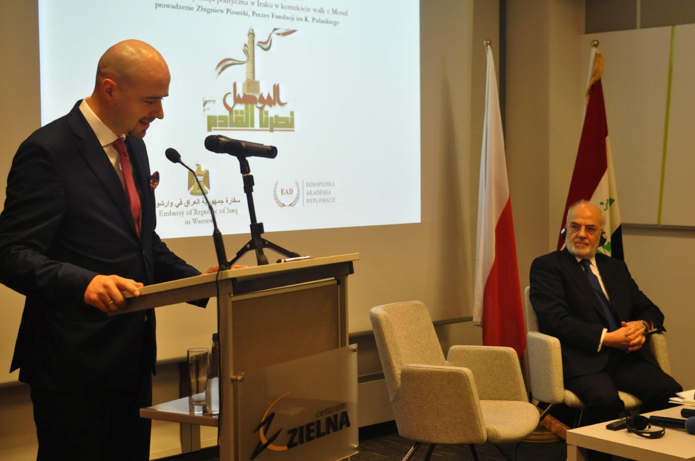 """Minister Spraw Zagranicznych Republiki Iraku wPolsce: """"Irak potrzebuje inwestycji zagranicznych. Myślę, żeto dobra okazja dla Polski""""."""