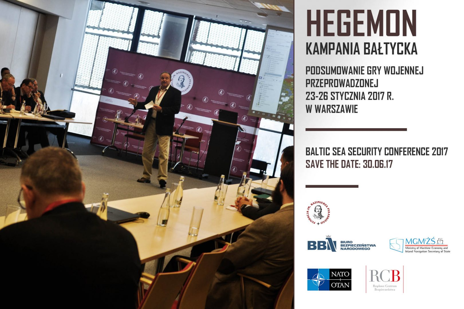"Presenation of the report from the wargaming ""Hegemon Baltic Campaign"" with participation of Philip M. Breedlove"