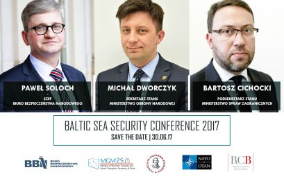 Ministers Paweł Soloch, Michał Dworczyk and Bartosz Cichocki to open Baltic Sea Security Conference 2017