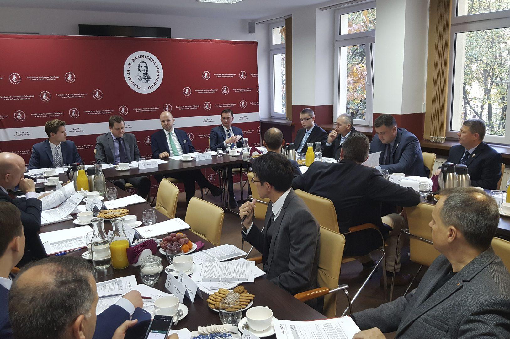 Spotkanie Komitetu Organizacyjnego Warsaw Security Forum 2017 zattachés wojskowymi