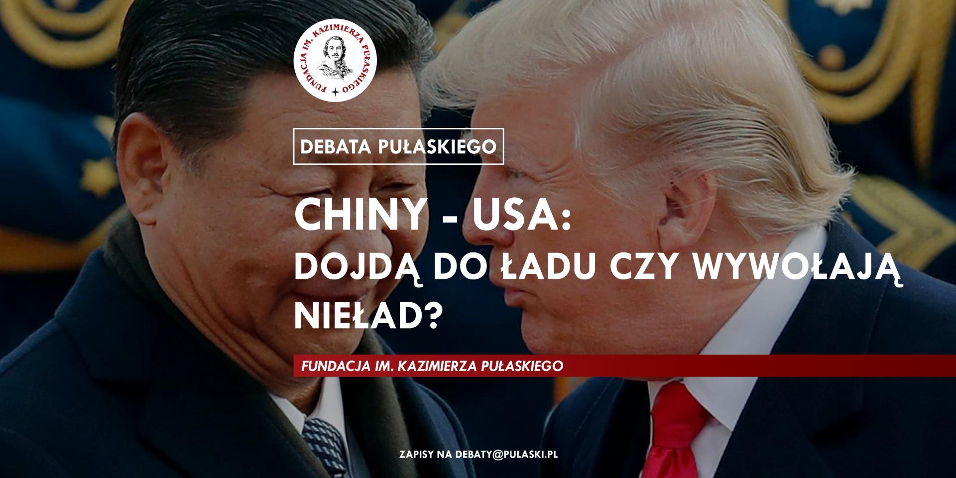 Chiny – USA: dojdą doładu czywywołają nieład? – spotkanie zekspertem Fundacji Pułaskiego drhab. Bogdanem Góralczykiem