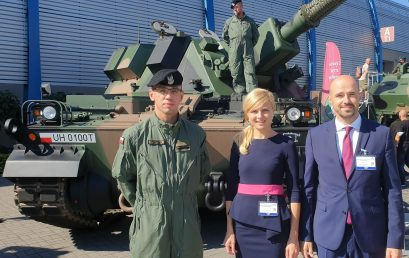 Representatives from the CPF at the MSPO 2020