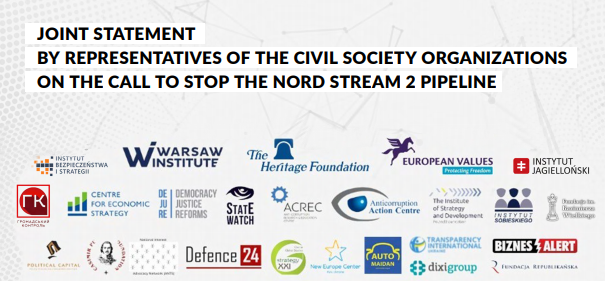 JOINT STATEMENT BY REPRESENTATIVES OF THE CIVIL SOCIETY ORGANIZATIONS  ON THE CALL TO STOP THE NORD STREAM 2 PIPELINE