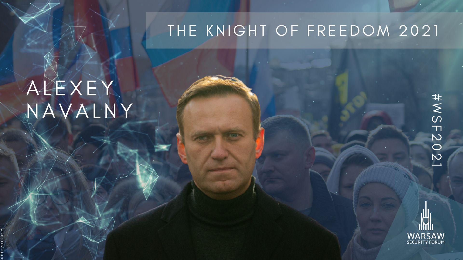 Alexey Navalny – 2021 Knight of Freedom awardee